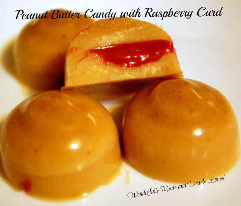 sugar free peanut butter candy with Raspberry Curd