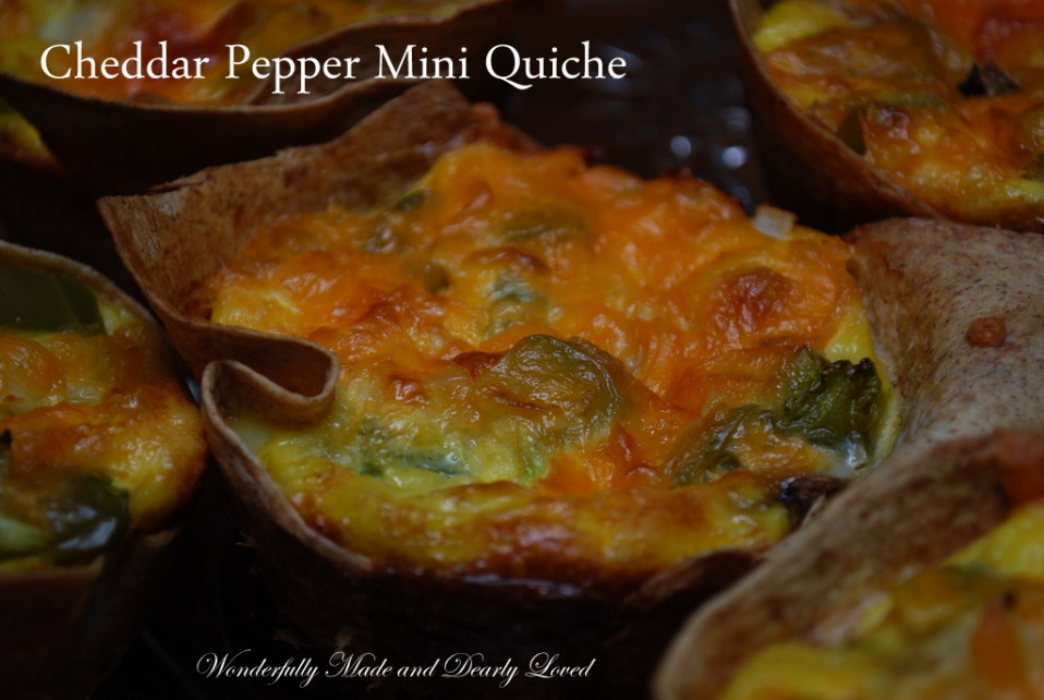 Cheddar Pepper Mini Quiches