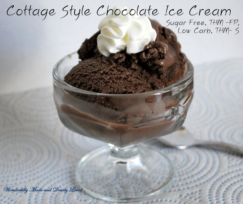 cottage style chocolate ice cream wonderfully made and
