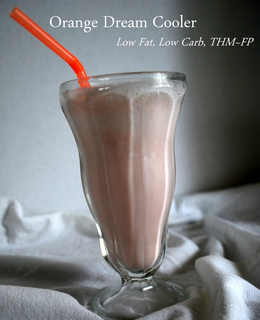 A Creamy Orange Dream Cooler that is sugar free, low fat and low carb.