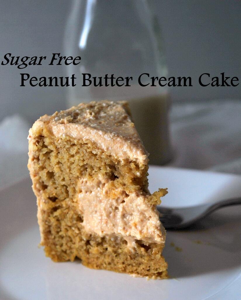 Peanut Butter Cream Cake, Slice