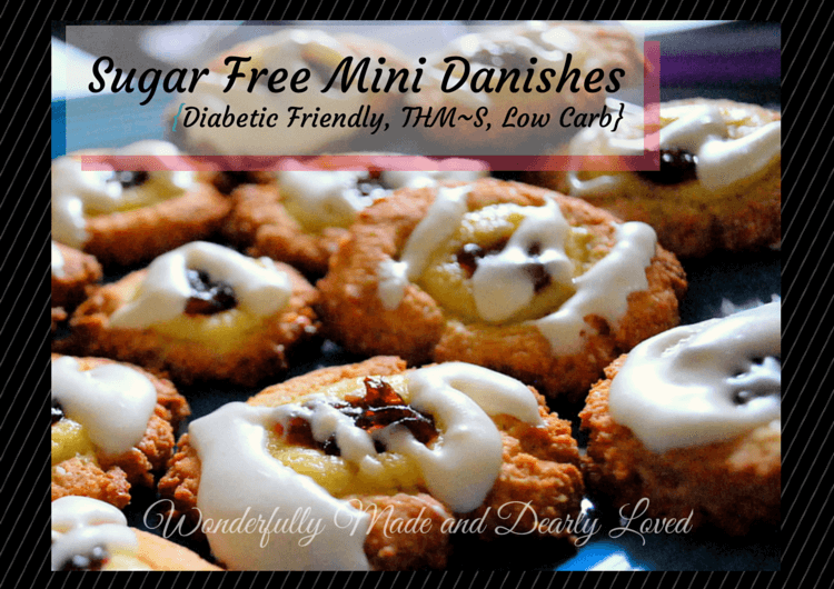 Low Carb, Sugar Free Mini Danishes (THM~S, Gluten Free)