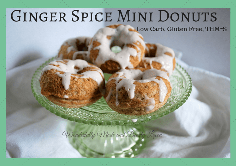 Celebrate National Donut Day with these Ginger Spice Mini Donuts {Low Carb, Gluten Free, THM~S}