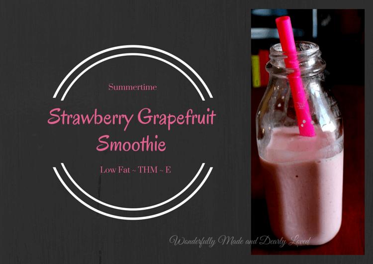 Strawberry Grapefruit Smoothie (THM E)
