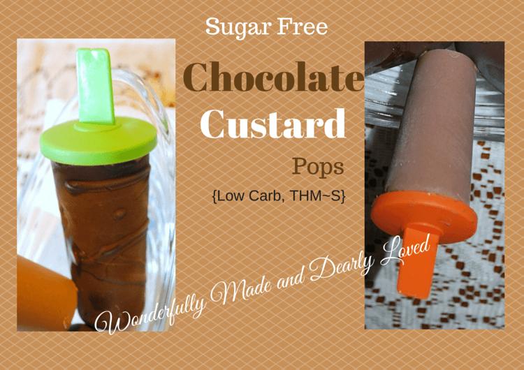 Sugar Free, THM Friendly Chocolate Custrad Pops (Low Carb, THM~S)
