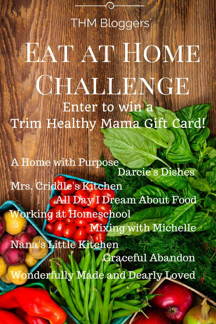 Eat at home challenge giveaway and THM menu