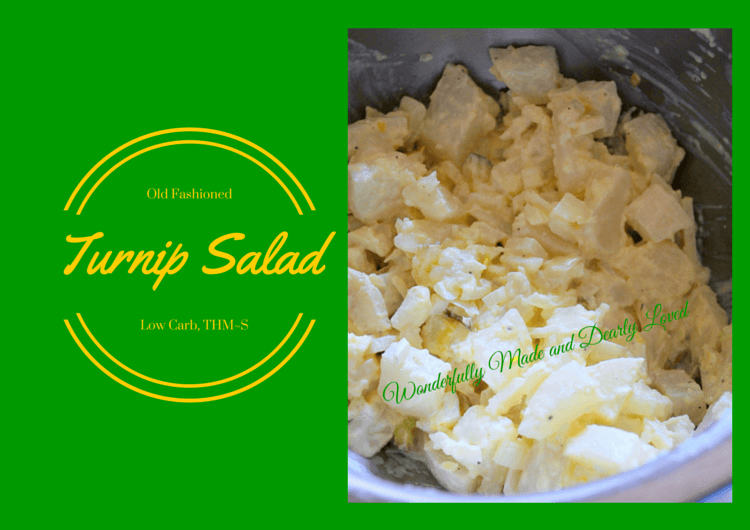 Old Fashioned Turnip Salad a healthy way to replace potato salad at any pinic or BBQ.{Low Carb, THM~S}