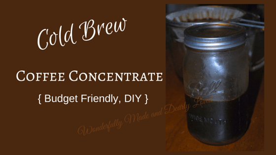 Cold Brew Coffee Concentrate (Low Carb, Low Fat, Budget Friendly, THM~FP}