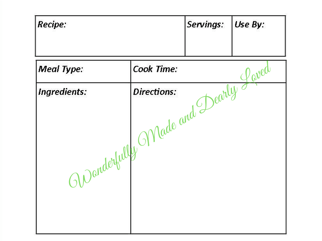 photograph about Printable Freezer Labels titled Printable Freezer Labels (THM Helpful) Beautifully Produced