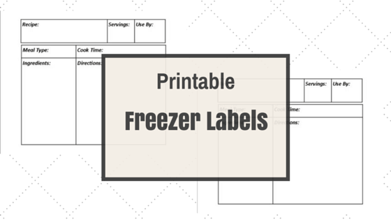 photograph relating to Printable Freezer Labels referred to as Printable Freezer Labels (THM Welcoming) Superbly Produced