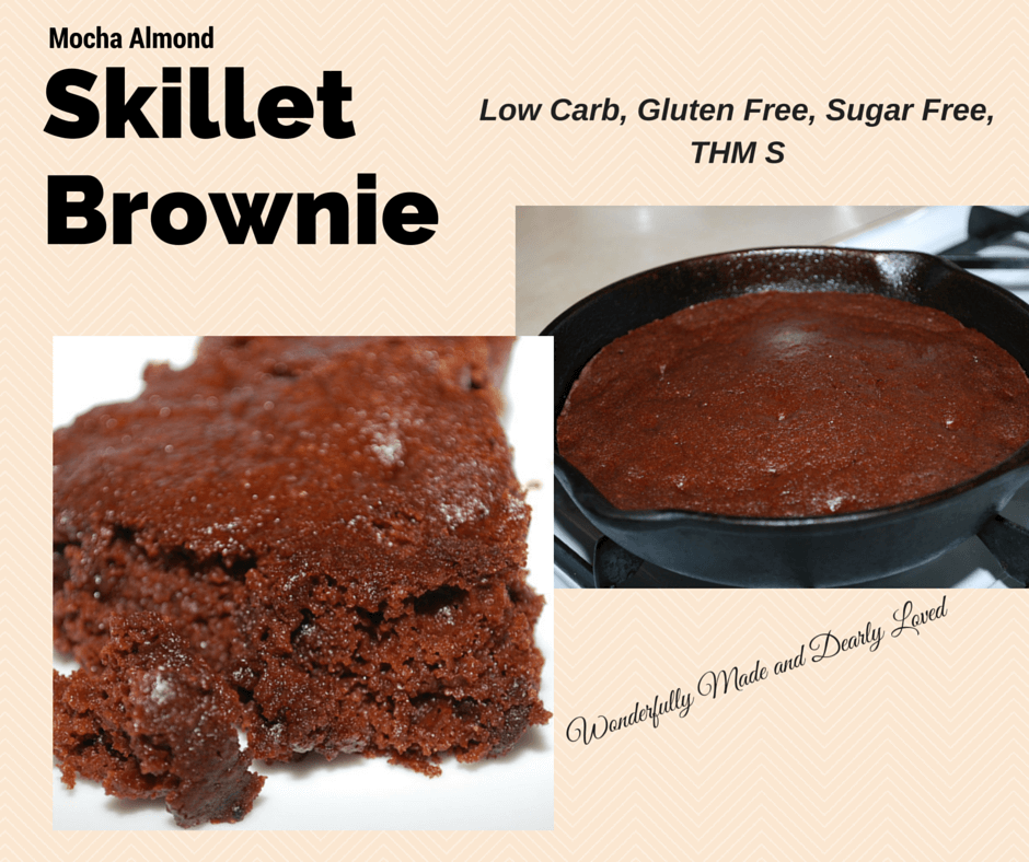 Mocha Almond Skillet Brownie THM S, Low Carb, Gluten Free, Sugar Free