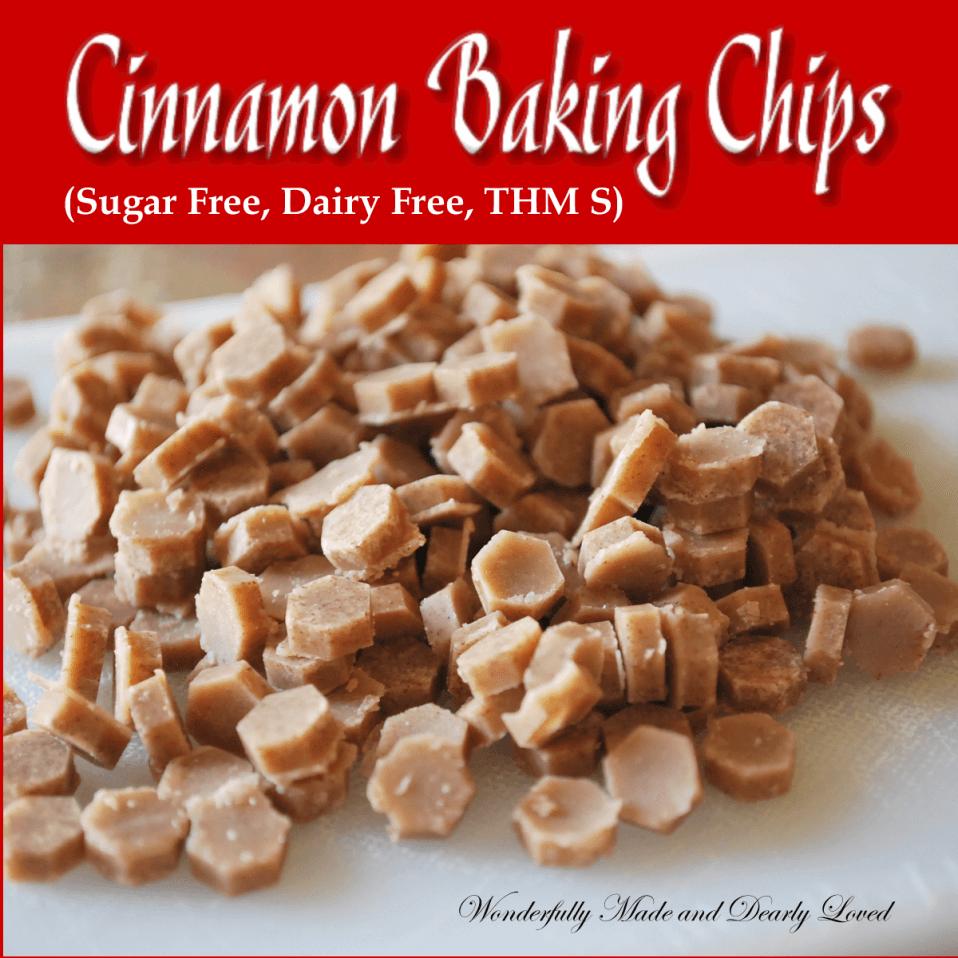 Cinnamon Baking Chips (Sugar Free, Dairy Free, Low Caarb, THM S)