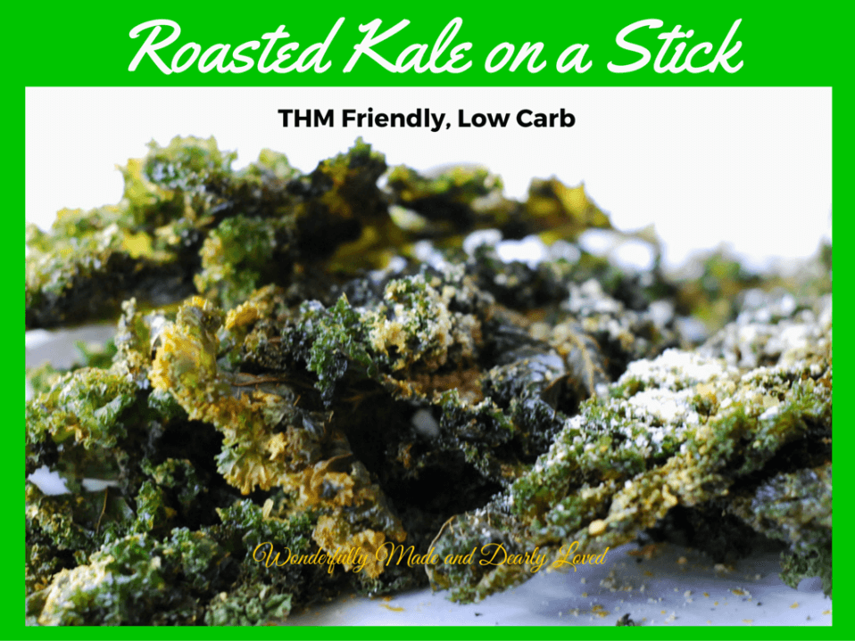 Roasted Kale on a Stick(THM Deep S, Low Carb)