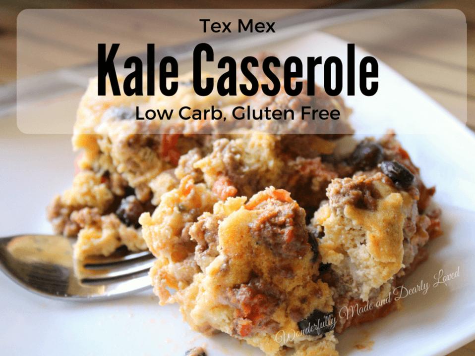 Tex Mex Kale Casserole (THM S, Low Carb, Gluten Free)