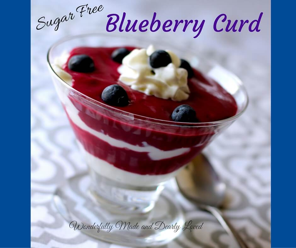 Sugar Free Blueberry Curd (THM S, Low Carb)