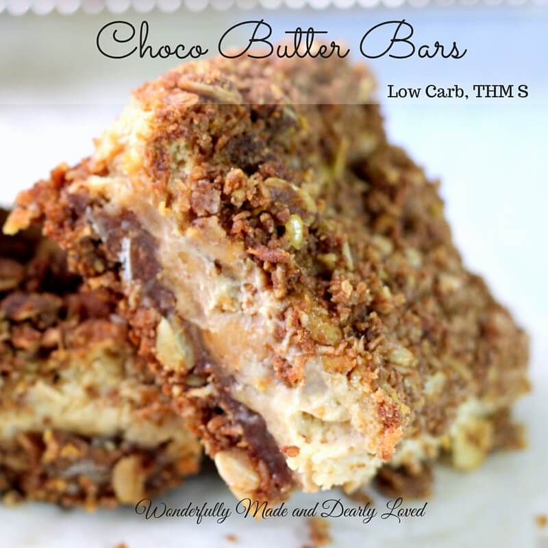 Choco Butter Bars (Low Carb, THM S, Sugar Free)