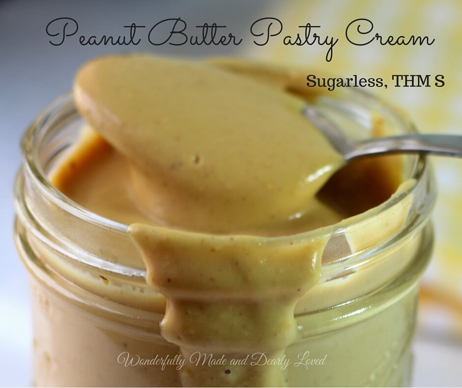 Peanut Butter Pastry Cream (Sugarless, THM S, Low Carb)