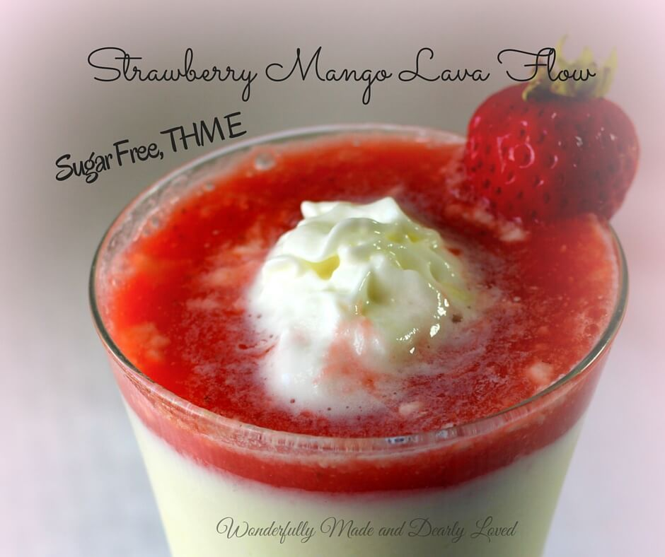Strawberry Mango Lava Flow (Sugar Free, Low Fat, THM E)