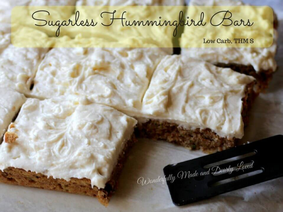 Sugarless Hummingbird Bars (THM S, Low Carb, Gluten Free)