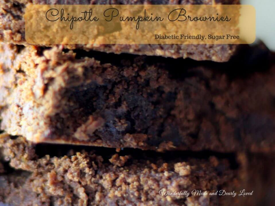 Chipotle Pumpkin Brownies (THM S- Helper, Sugar Free, Gluten Free)