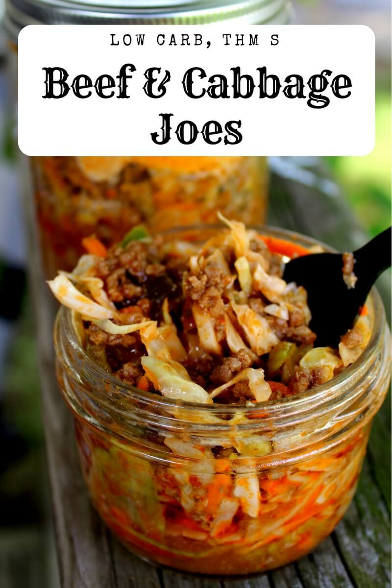 Beef and Cabbage Joes (Low Carb, THM S) is a great dinner on the go!