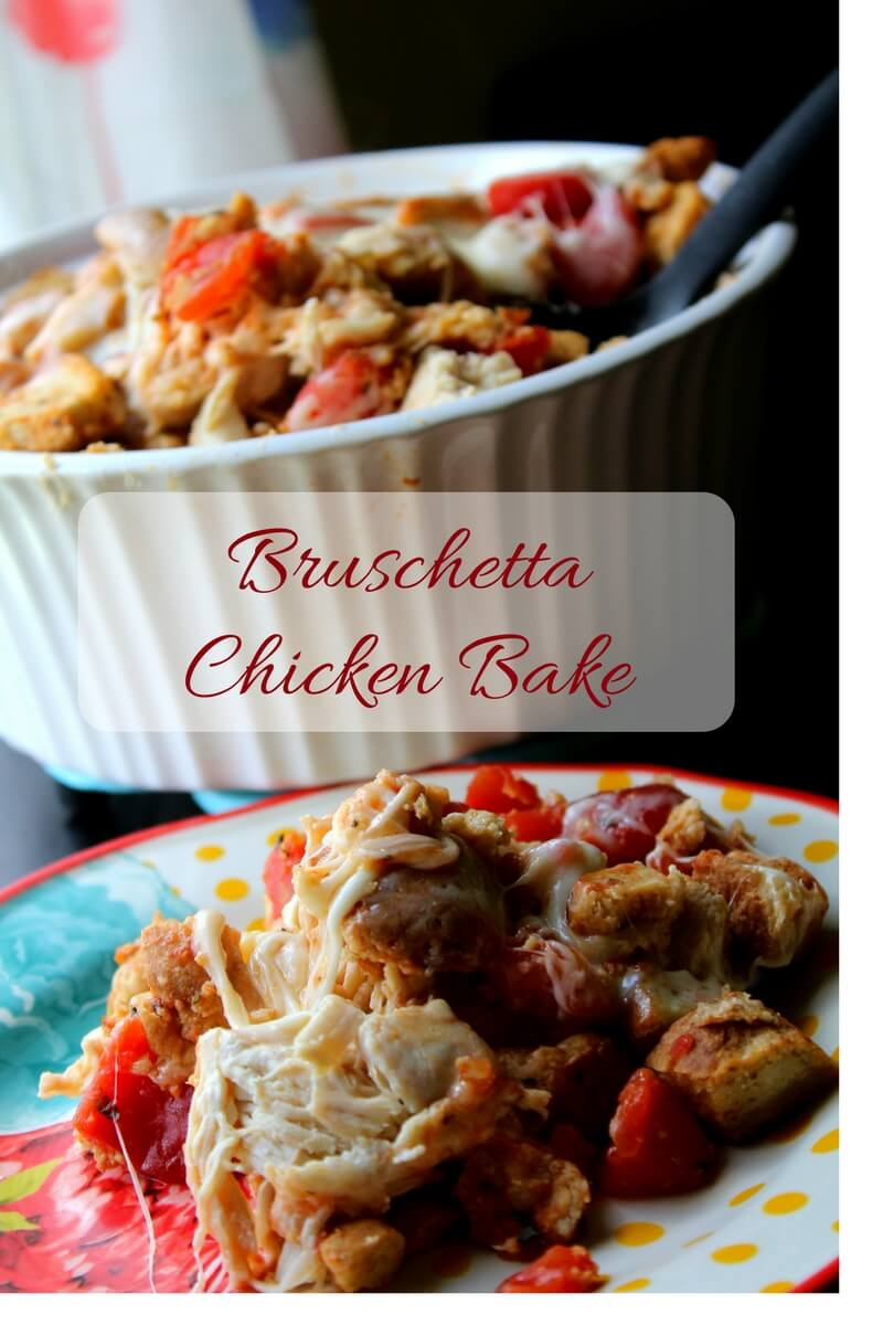 An amazing Bruschetta Chicken Bake that fits within your Low carb or Trim Healthy Mama lifestyle.