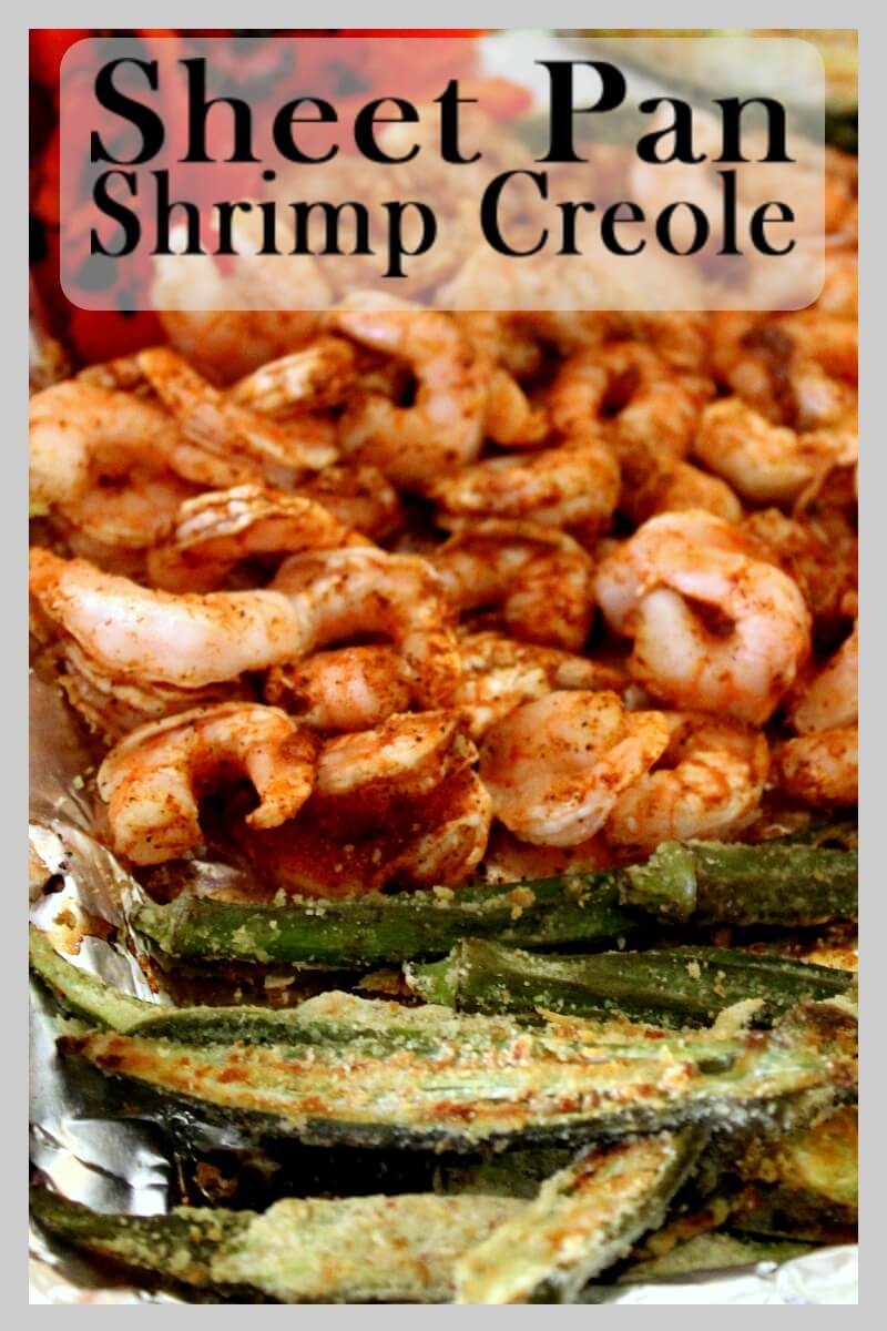 A great low carb Shrimp Creole Sheet Pan supper that is super satisfying