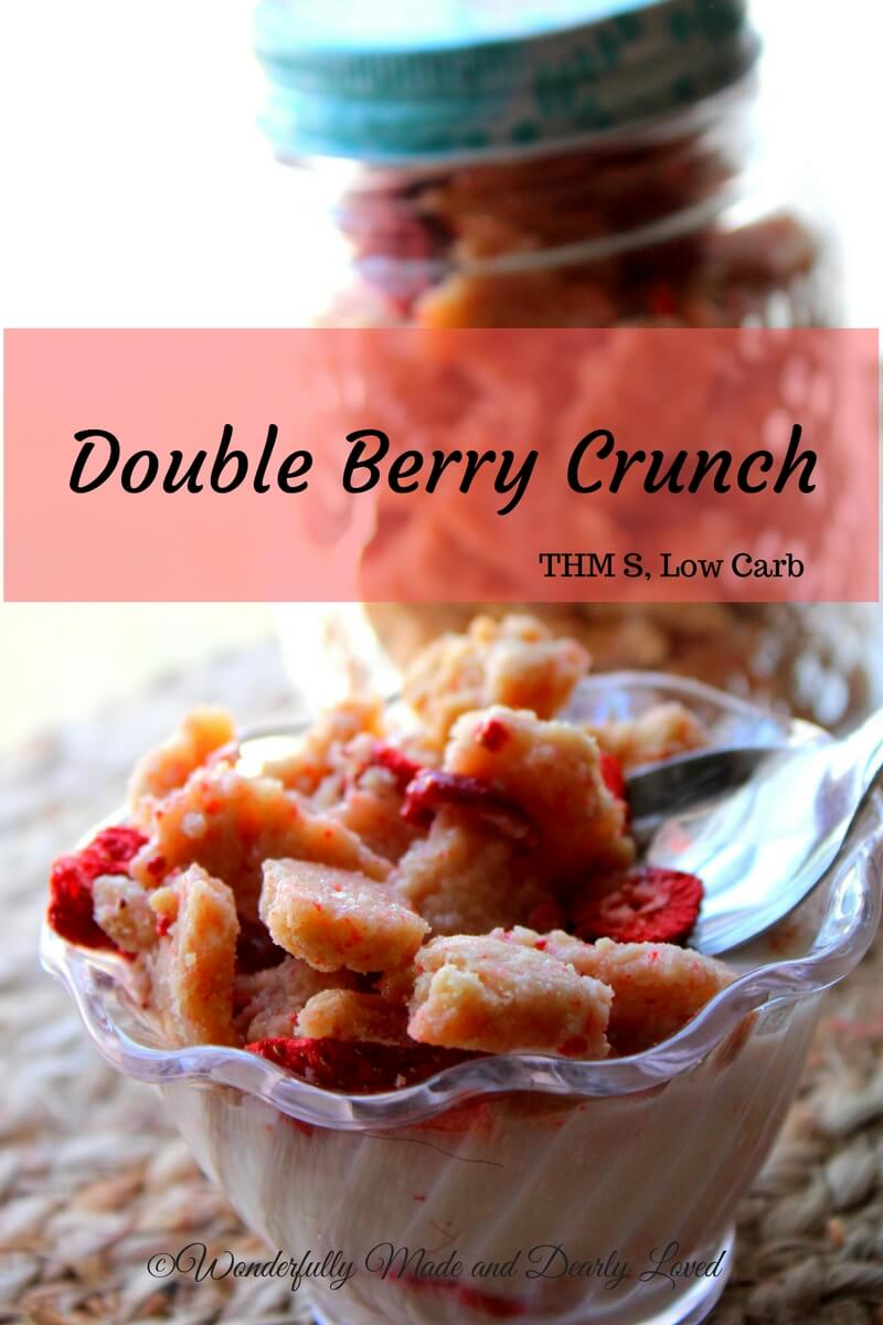 Double Berry Crunch is a trimming and healthy cereal option for those following the Trim Healthy Mama Lifestyle. This satisfying cereal can also be used as a yogurt topping and is a great craving buster.