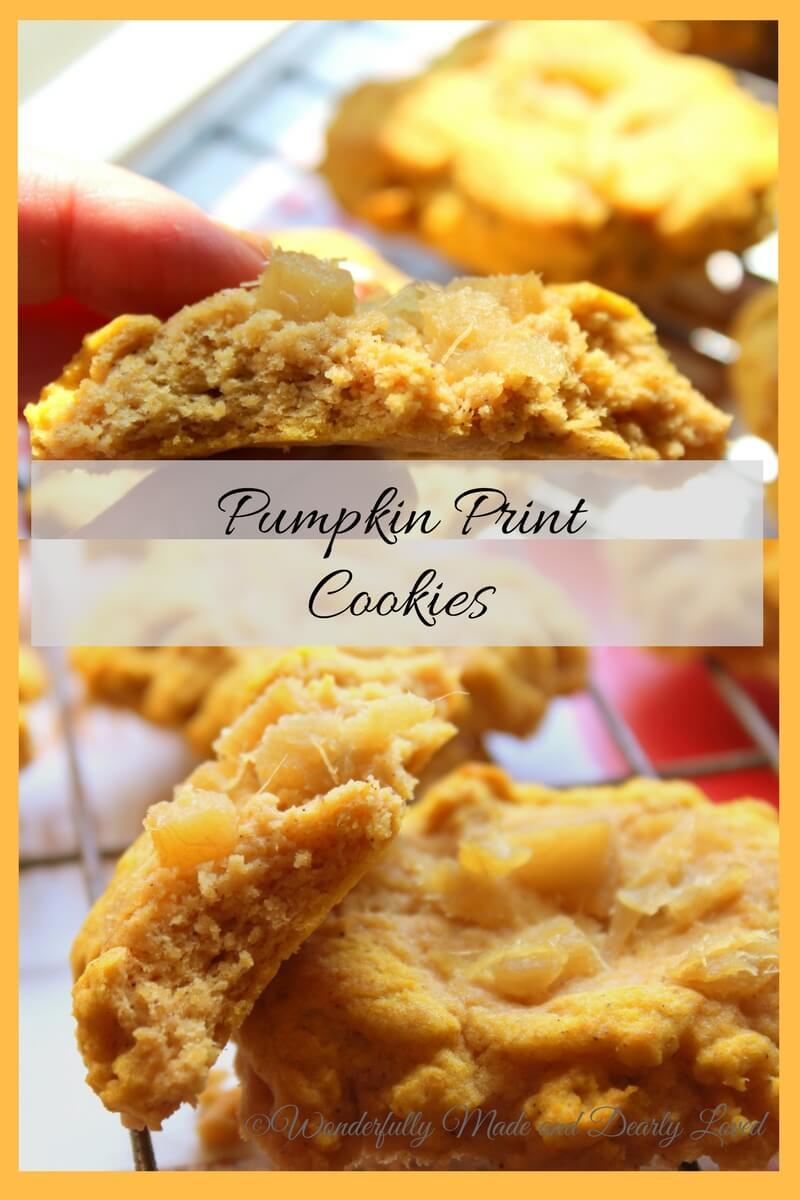 Ginger Studded Pumpkin Print Cookies (THM S, Low Carb)