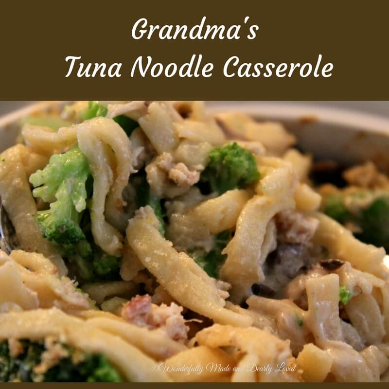 My grandma;s tuna noodle casserole recipe converted to being low carb and THM friendly is sure to become a family favorit