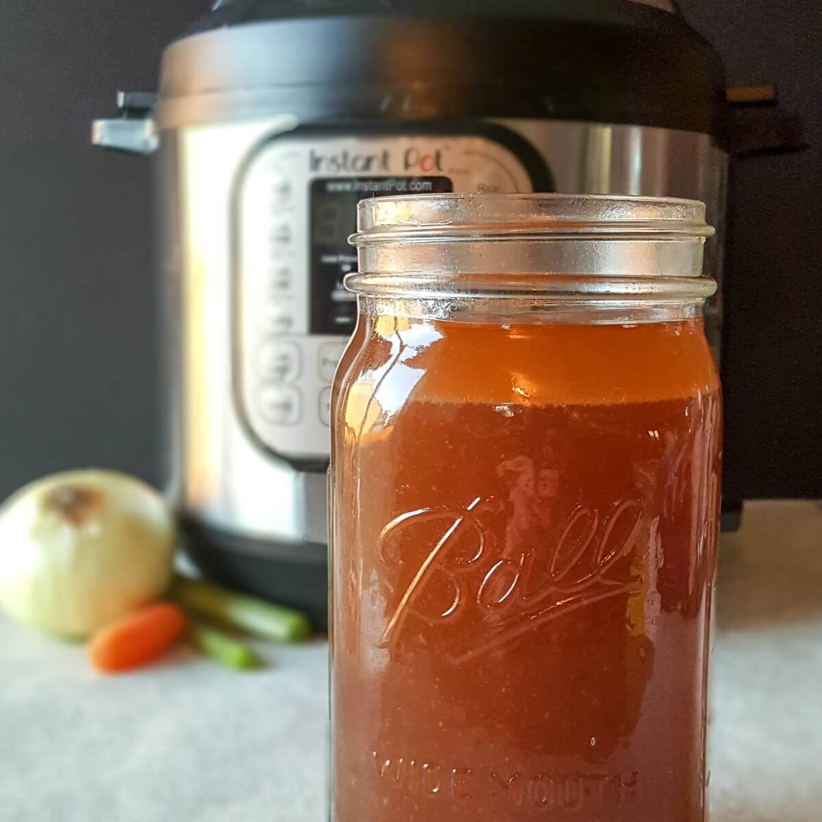 Healthy Healing Beef Bone Broth from your Instant Pot