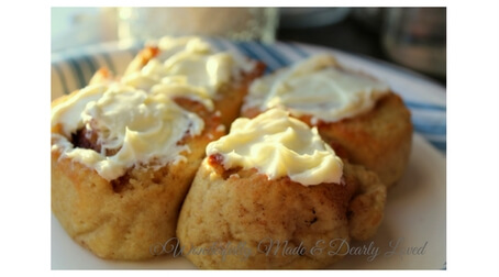 air fryer or oven baked cinnamon rolls wonderfully made