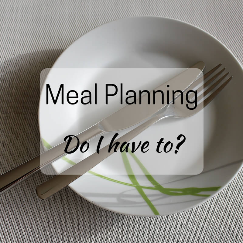 Meal Planning, Do I have to?