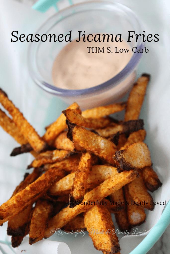 Seasoned Jicama Fries Air Fryer Or Oven Baked Thm Fp Low